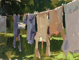 Washing line at Old Lawn House