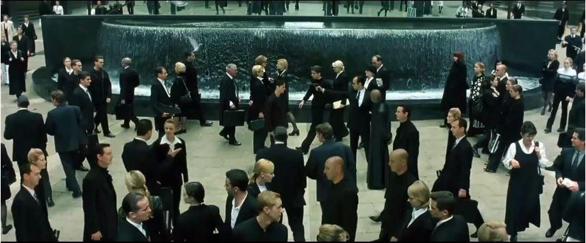 1999年のthe matrixの1シーンより拝借
