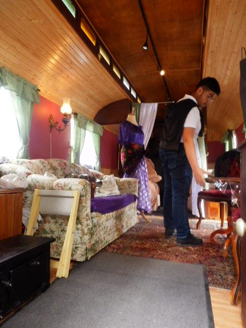 vintage列車の天井