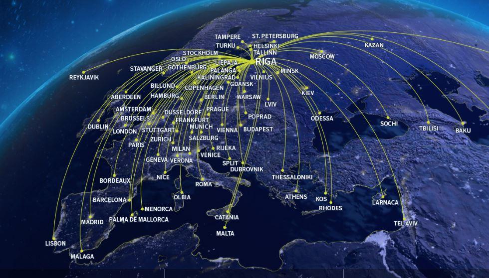 欧州70都市を結ぶ、ラトビア国営のLCC バルティック航空