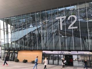 ヘルシンキのターミナル2にて