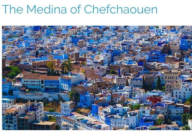 青の街、モロッコの世界遺産、メディナのシャウエン
