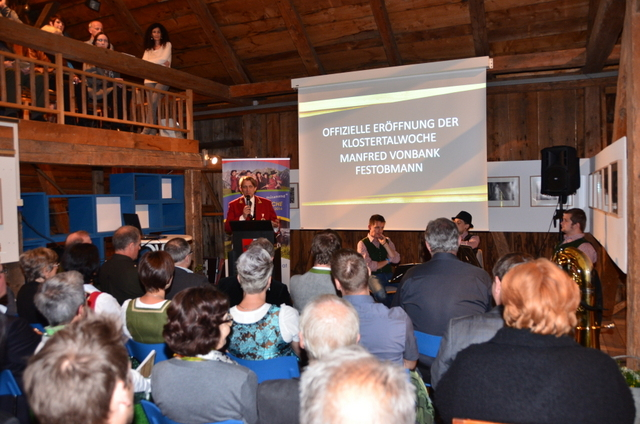 Eröffnung der Klostertalwoche im Heimatmuseum Wald a .A.