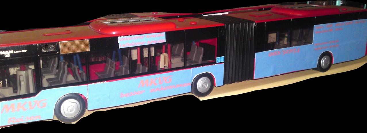 So sah die alte MKVG Werbung, an Wagen 213, aus