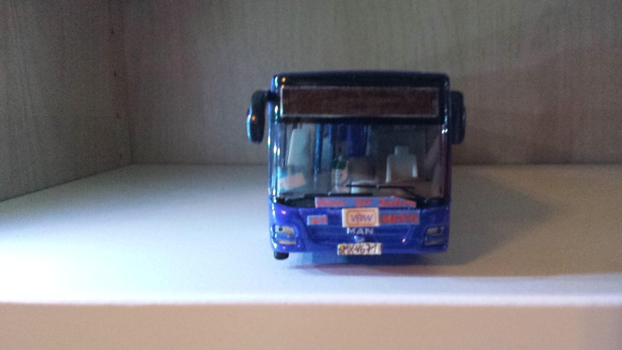 Die Front, von Wagen 671, mit neuer Werbung