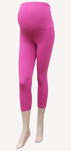 3/4 Maternity Leggings - Pink