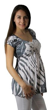 white grey maternity top