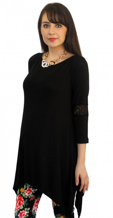 black maternity blouse