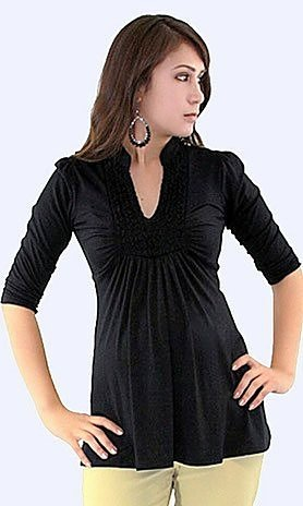 black long sleeve maternity top