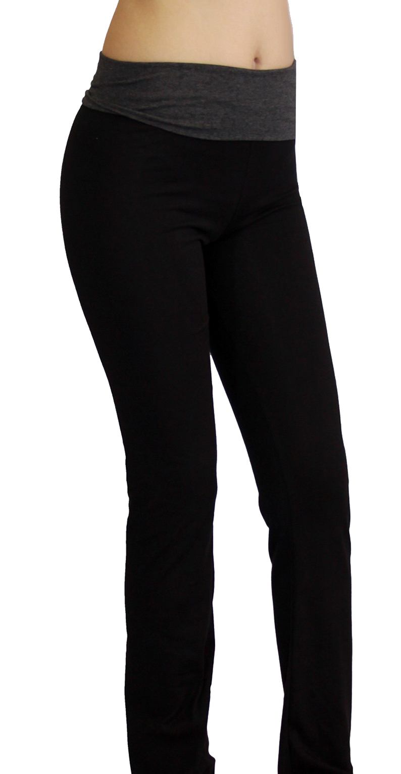 black and gray maternity yoga pants