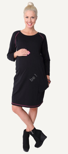 "Maternity Dress ""Loop"" black"