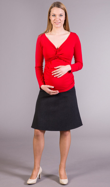 BLACK WINTER MATERNITY SKIRT