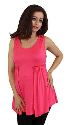 sleeveless us made maternity top