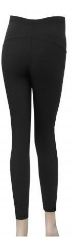 black winter maternity leggings