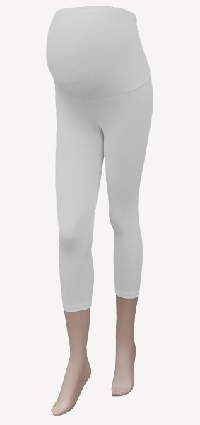 3/4 Maternity Leggings - white