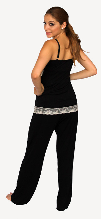 BLACK MATERNITY PAJAMA