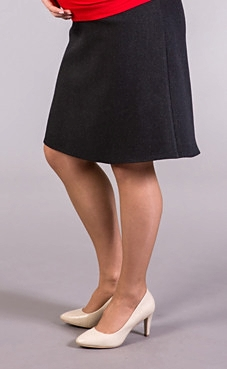 winter maternity skirt black