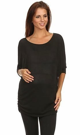 maternity tunic black