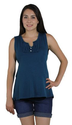 navy blue sleeveless maternity top