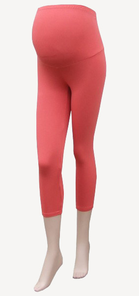 3/4 maternity Leggings Coral