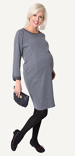 grey maternity dress