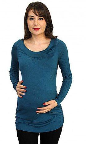 long sleeve maternity top royal blue