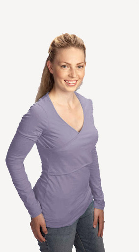 warm nursing criss - cross - lavender