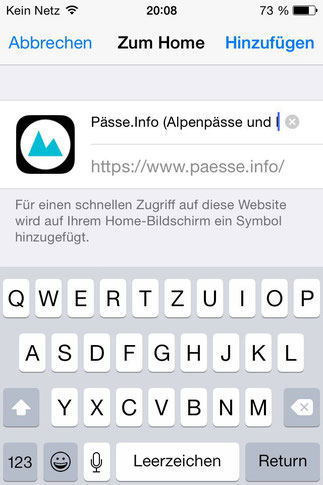 Screenshot 4 Pässe.Info-Web-App für iPhone