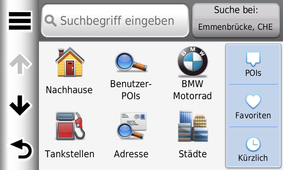 BMW Motorrad Navigator POIs