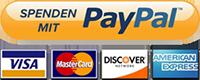 Spenden mit PayPal oder Kreditkarte