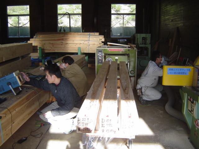 木材の打撃音測定によるヤング率確認