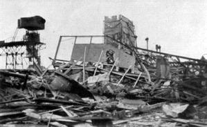 1945 ist die Schachtanlage völlig zerstört