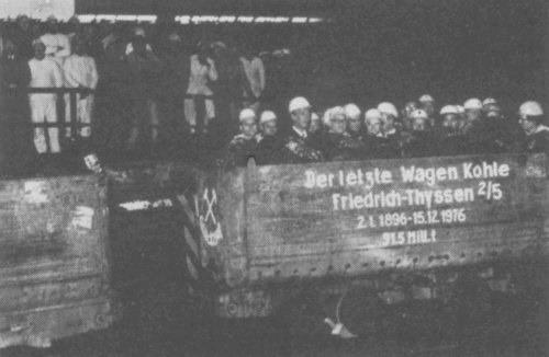 Der letzte Förderwagen - die letzte Hamborner Kohle