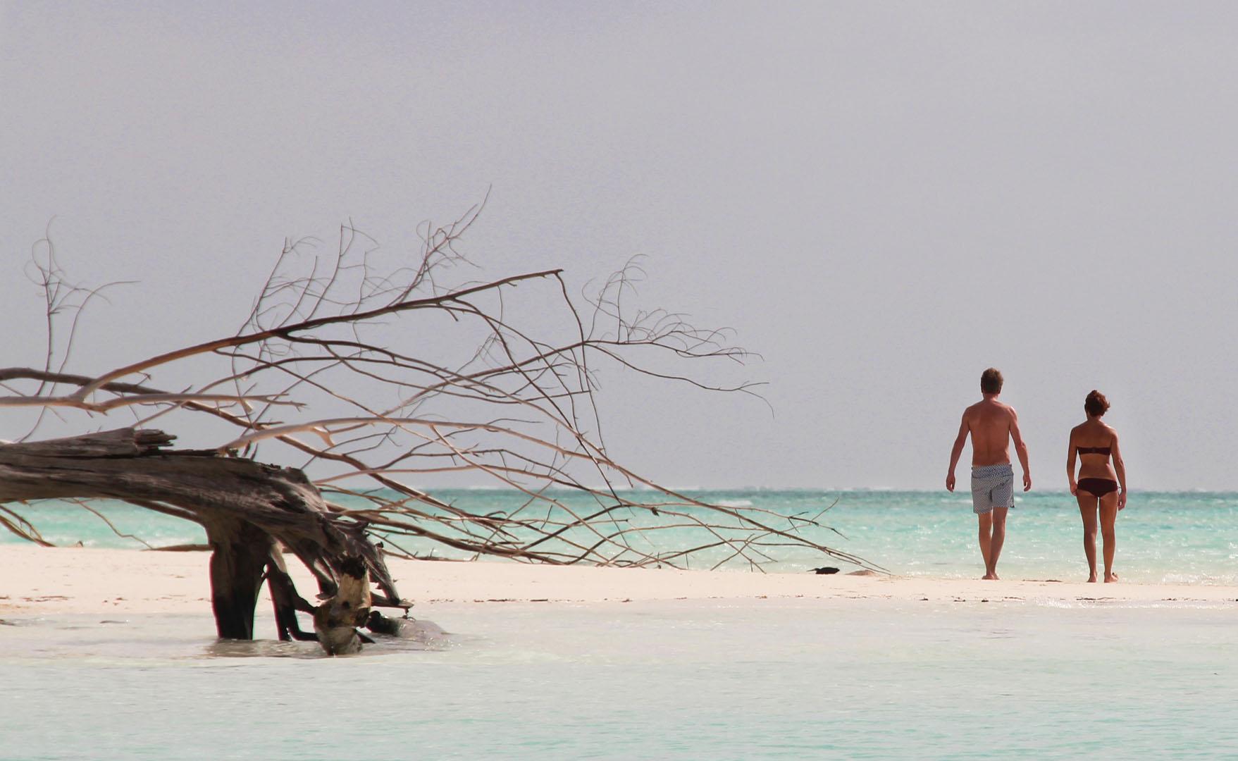 """einsamer Strand von Zanzibar """"Bildaufbau"""""""