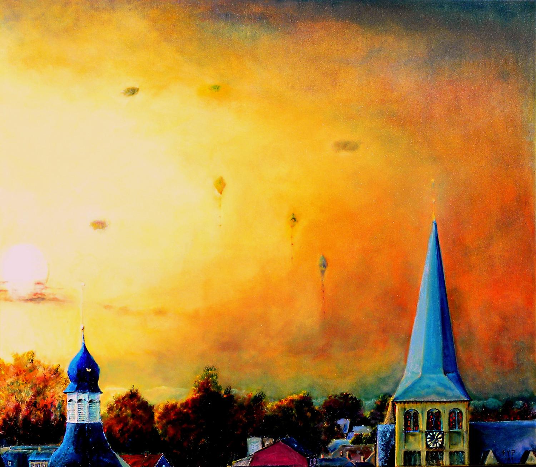 Kinderträume an der langen Leine – Gemälde von Peter Feyen