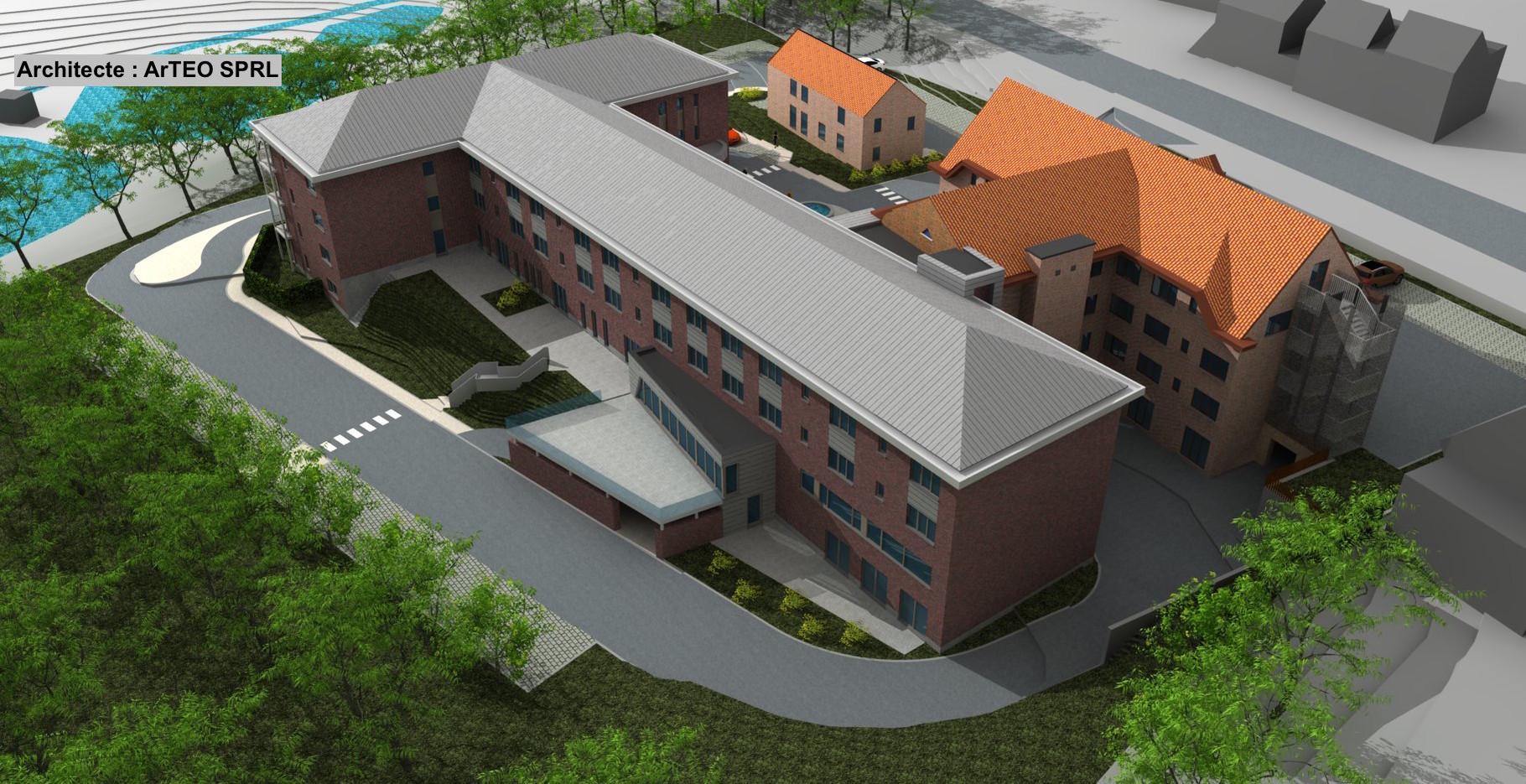 Maison de repos et résidence-services à Gembloux : Techniques spéciales, Responsabilité PEB et Coordination Sécurité Santé