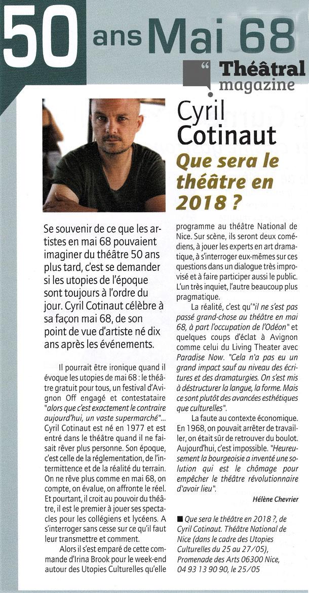THEATRAL MAGAZINE - Hélène Chevrier - Mai 2018