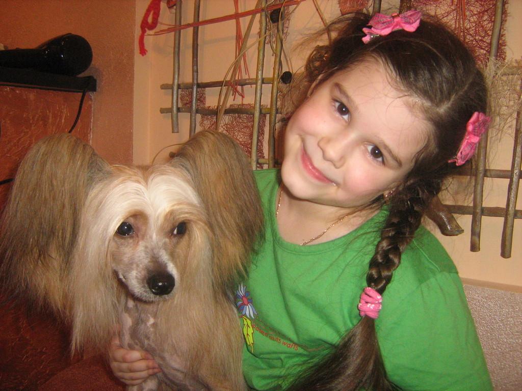 Вилли и дочка Вероники Ксюша