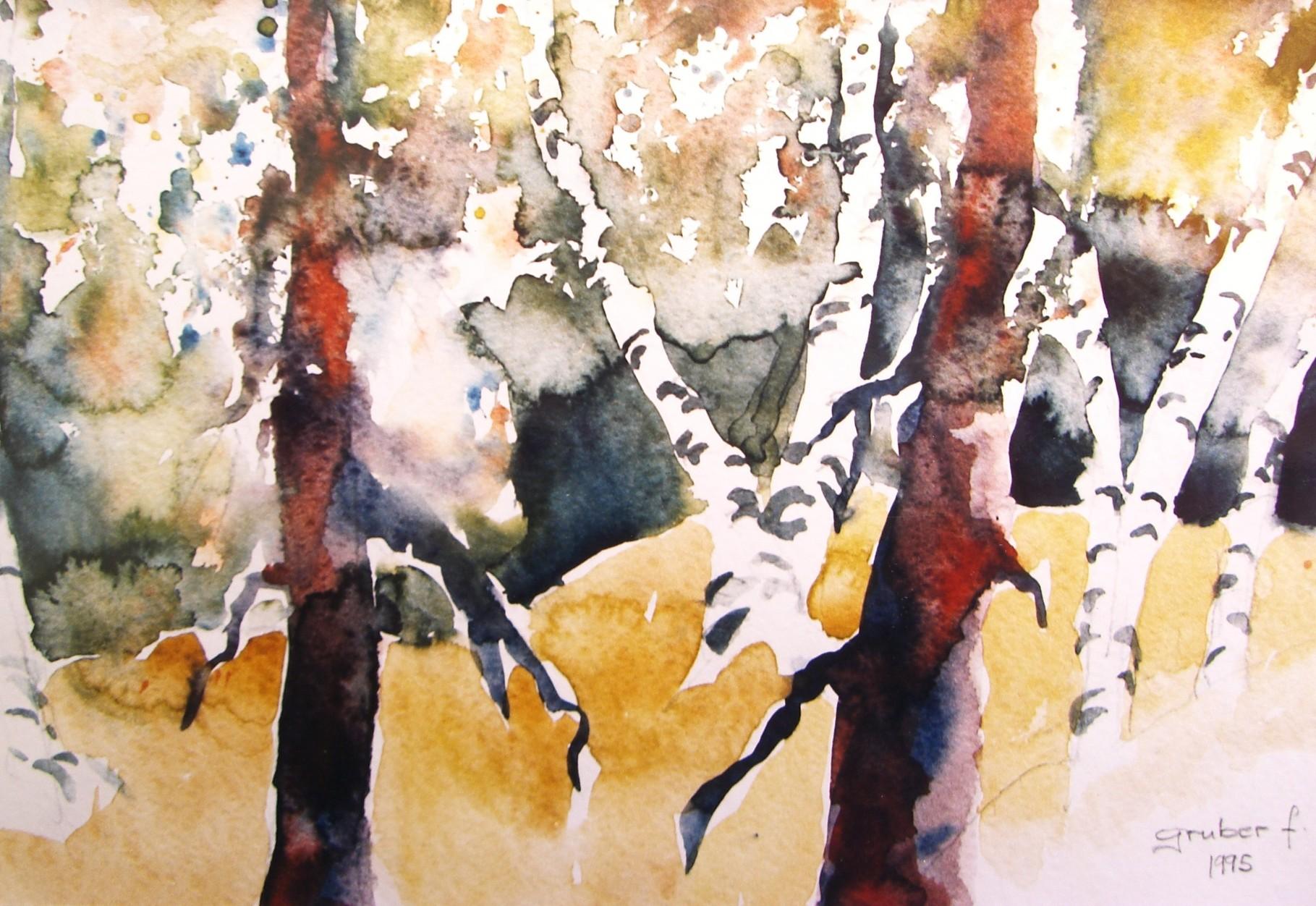 aquarell - birken