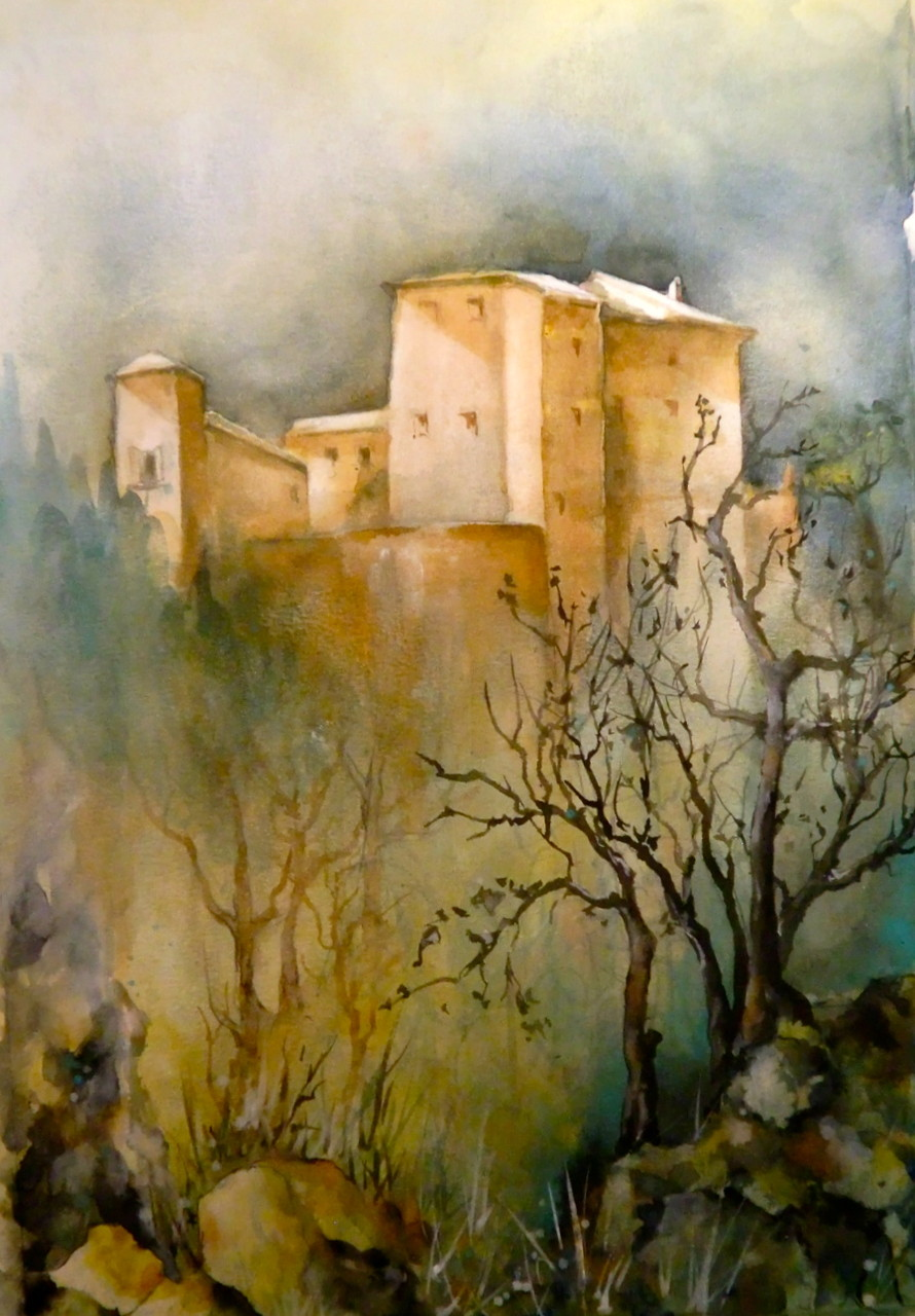 aquarell - castello di bertinoro - emilia romagna