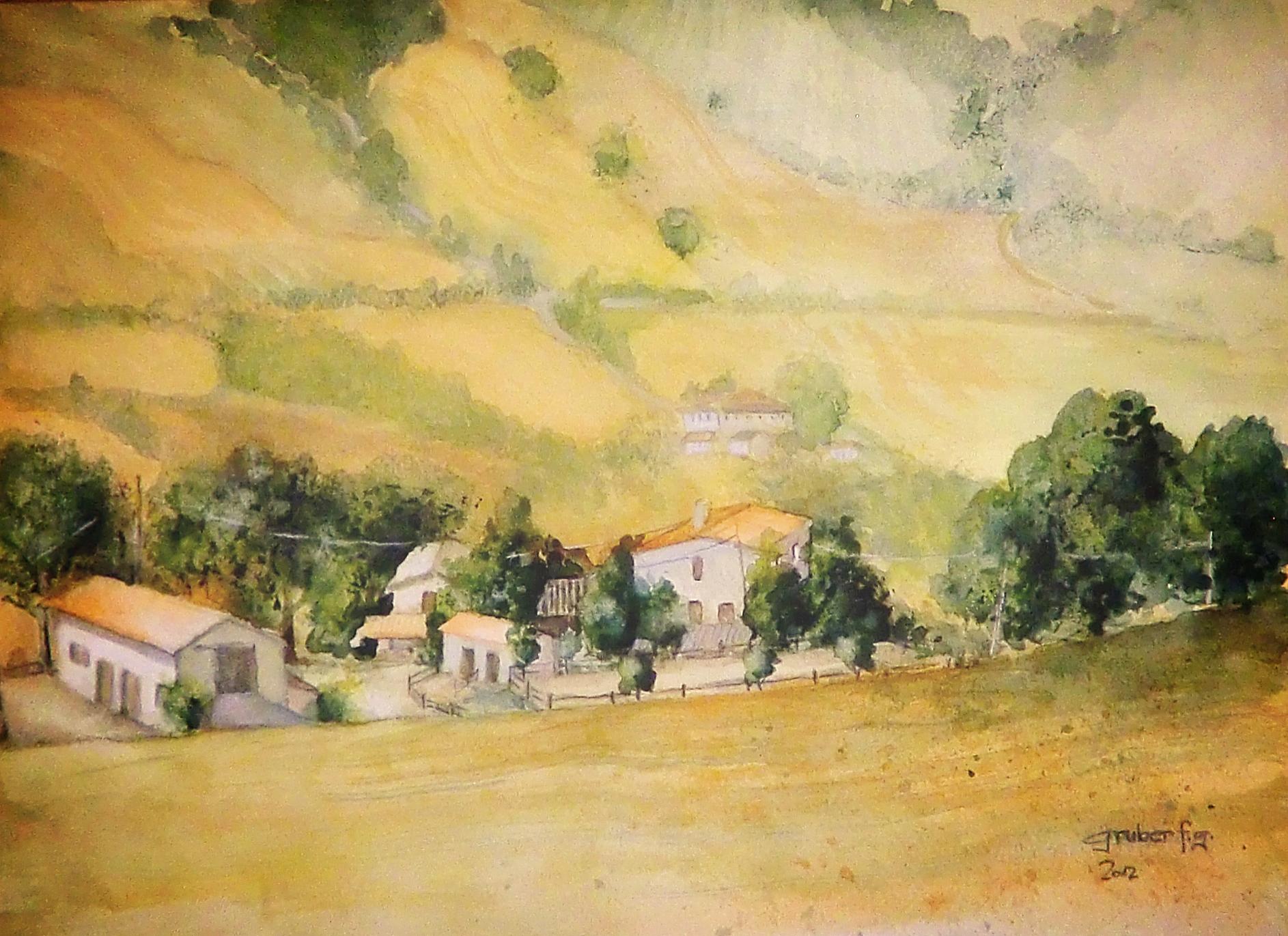 aquarell auf leinen - agriturismo a la vecchia quercia - pergola