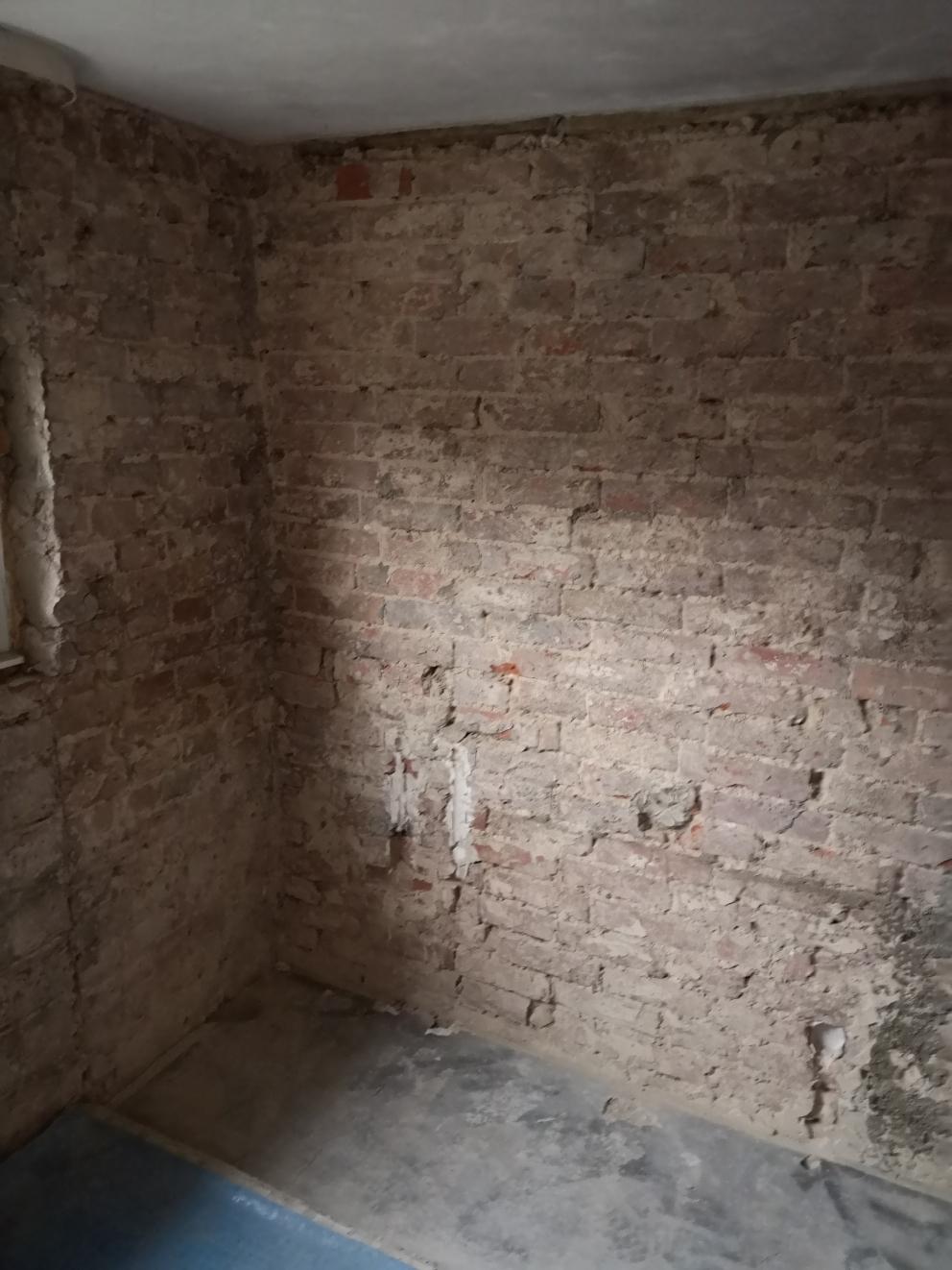 Selbst ohne Putz ist so eine gemauerte Wand attraktiv.