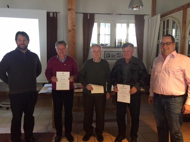 Martin Rupp, Dr. Rainer Stripf, Fritz Heger, Anton Geiser und Peter Essert