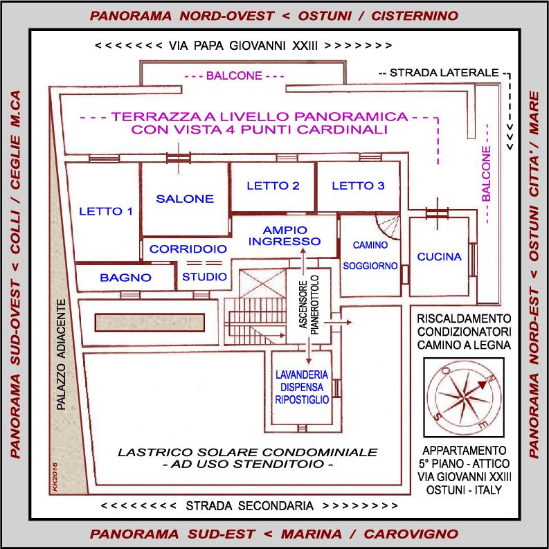 Descrizione della casa ostunipanorattico - Planimetria della casa ...