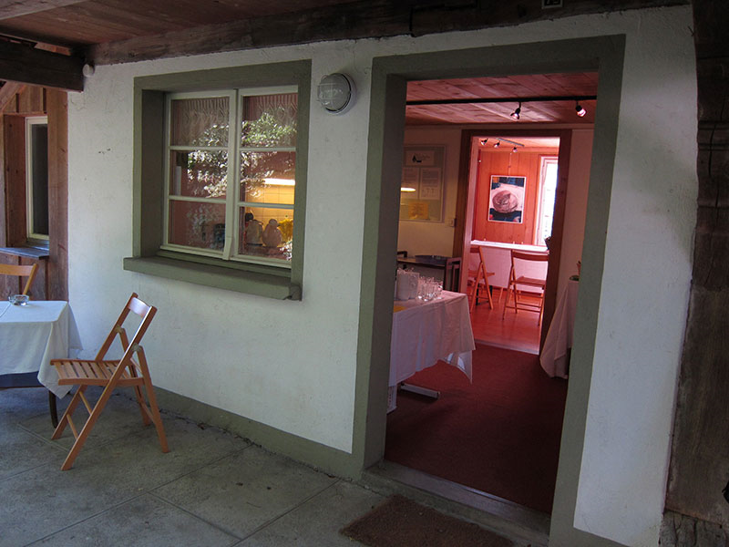 Ein Blick ins Innere des  Kulturspychers in Meikirch