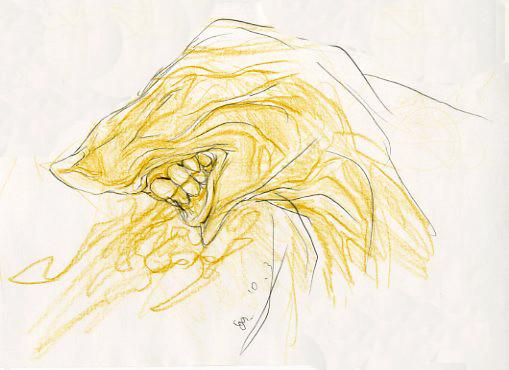 2009.10.3 画材:鉛筆 歯茎を描く習慣です。