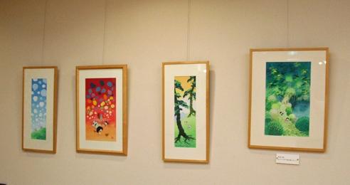 喜代美山荘・夕凪の湯ホテル花樹海常設アートギャラリー「池原昭治の童画館」