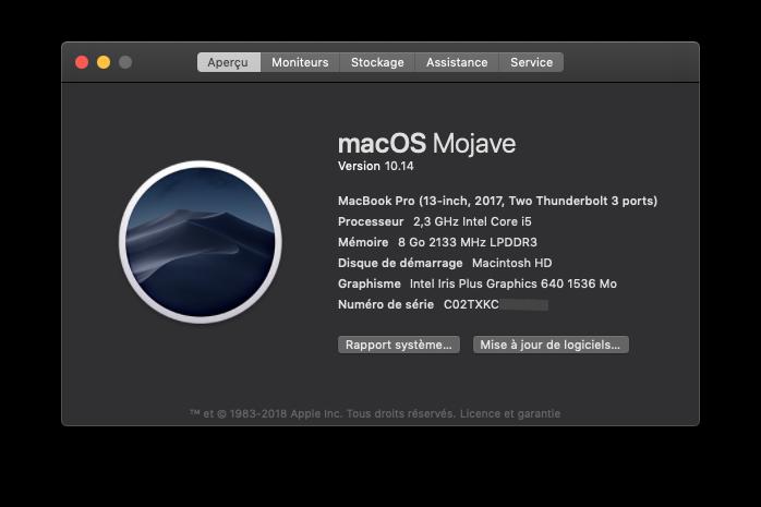 Trouvez la configuration de votre Mac