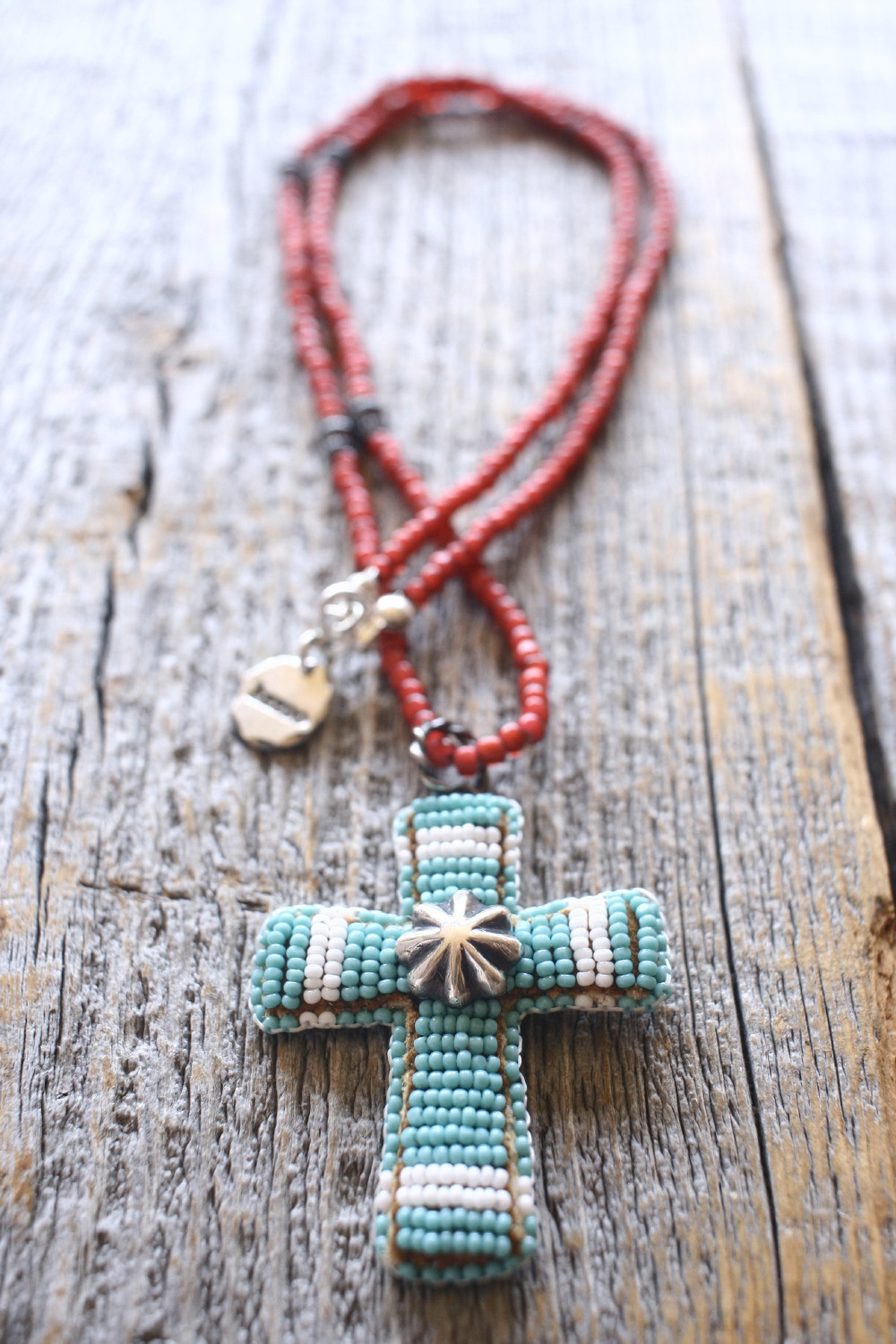Beaded Cross Pendant Top