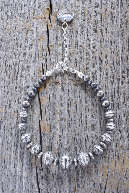 新作Silver Beads Bracelet